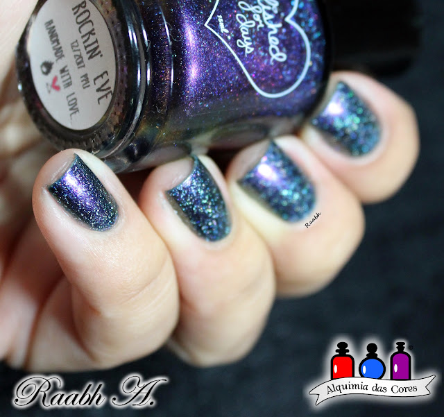 Polished for Days, Polished for Days Rockin' Eve, Polish Pick Up, Esmalte Multichrome, Esmalte Holográfico, Esmalte Indie, Raabh A. 2019,