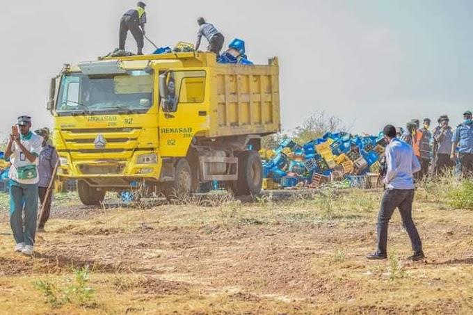 Kano Sharia police destroys 1,975,000 bottles of beer worth over N200 million