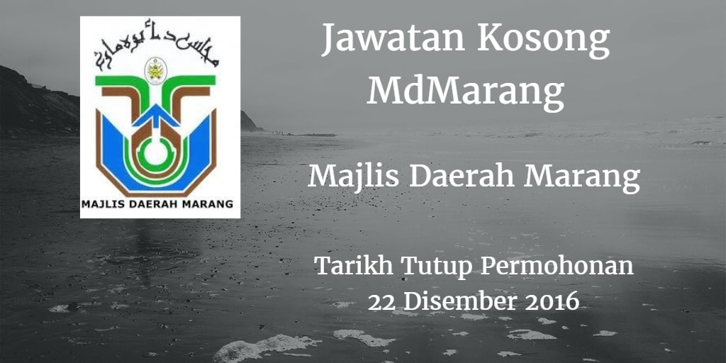 Jawatan Kosong MdMarang 22 Disember 2016