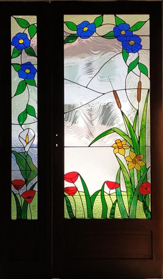 vitrail porte intérieure