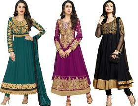 Minimum 70% Off on REYA Salwar Suit Material / Semi Stitched Suits @ Flipkart