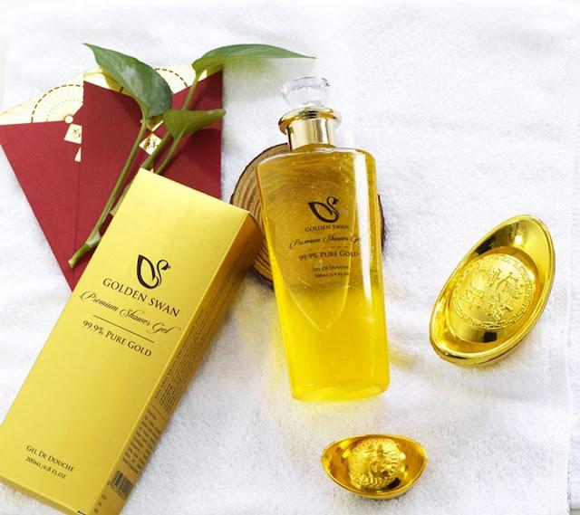 SỮA TẮM VÀNG PREMIUM SHOWER GEL 99.9% PURE GOLD (80 HỘP/THÙNG) - GOLDEN SWAN