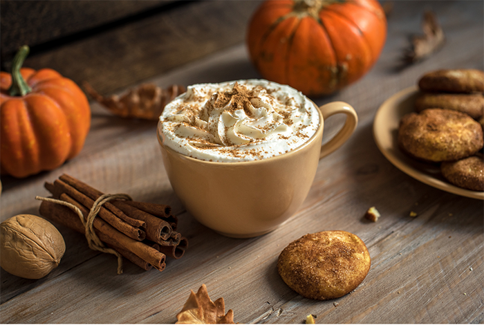 How to make a pumpkin spice latte without coffee.  This caffiene free fall drink is great for kids or those who don't like coffee.  It has real pumpkin puree.  How to make an easy hot drink at home.  Make a lot and use a crockpot for a crowd. Use almond milk for a nondairy version.  Add whipped cream and cinnamon on top for a homemade treat.  #pumpkinspice #latte