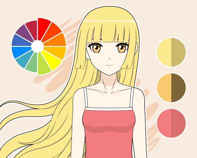 Warna-warna hangat menggambar