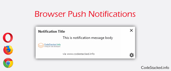 Send Browser Notifications from Website