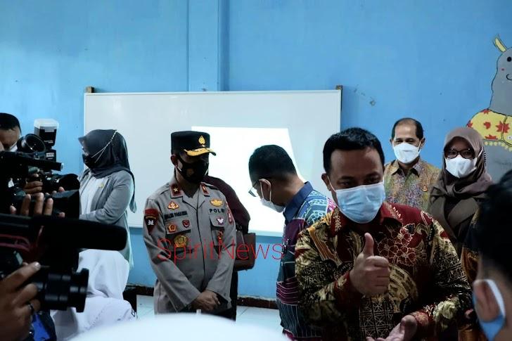 Wakapolda Sulsel, Hadiri Launching Pembelajaran Tatap Muka Tingkat SMA/SMK/SLB