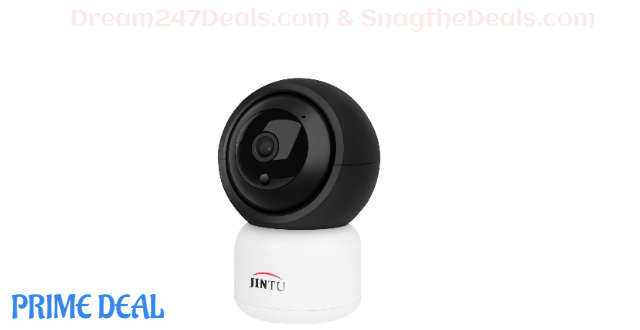 50% off JINTU Home Security Camera, 1080P Smart WiFi Camera Work with Alexa,Google, Pan/Tilt/Zoom, Motion Detection, Night Version, 2-Way Audio for Home/Office/Baby/Pet Indoor Surveillance System