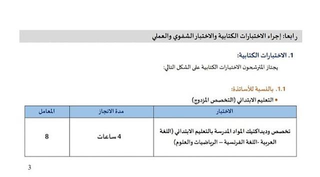 تفاصيل الاختبارات الكتابية والشفوية لمباريات توظيف الأساتذة والملحقين بالاكاديميات الجهوية 2020 - 2021