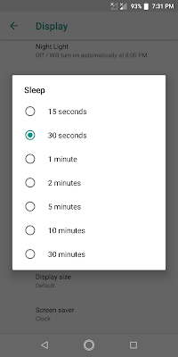 Mengatur Waktu Sleep Layar Handphone