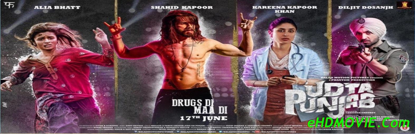 Udta Punjab 2016 Full Movie Hindi 720p - 480p ORG BRRip 550MB - 1.4GB ESubs Free Download