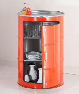 ตู้เก็บถ้วย ชาม แก้วจากถัง 200 ลิตร