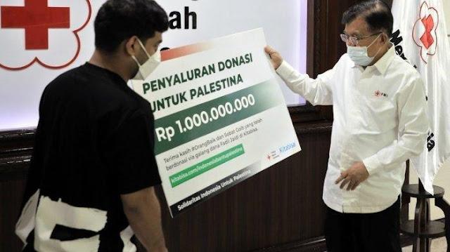 Jusuf Kalla Imbau 50 Persen Hasil Kotak Amal Masjid Disumbangkan ke Palestina
