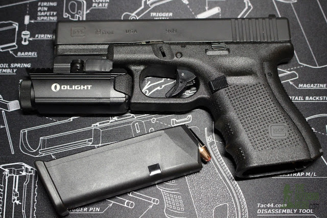 Olight PL-1 II Valkyrie Weapon Light - Mounted To Glock 19