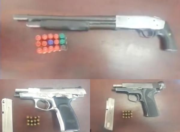 Video: Apresan tres hombres con armas ilegales en Villa Tapia