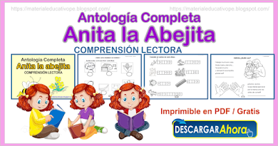 Antología completa Anita la Abejita comprensión lectora