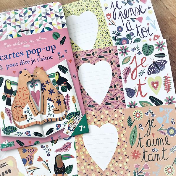 Cartes pop-up pour dire je t'aime