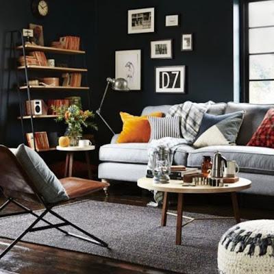 Furniture sofa terang untuk ruangan gelap