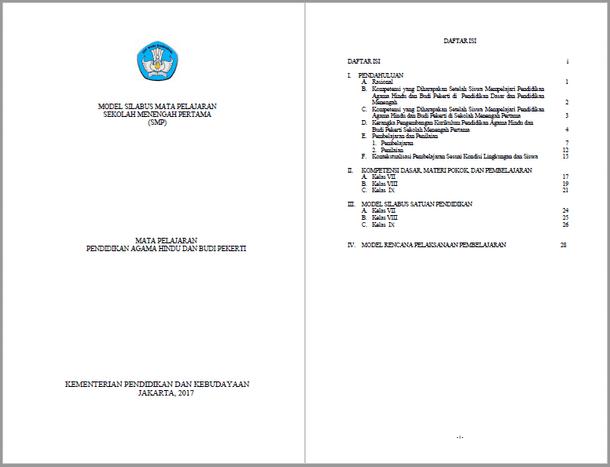 Silabus RPP Pendidikan Agama Hindu dan Budi Pekerti SMP Kurikulum 2013 Kelas VII, VIII, IX