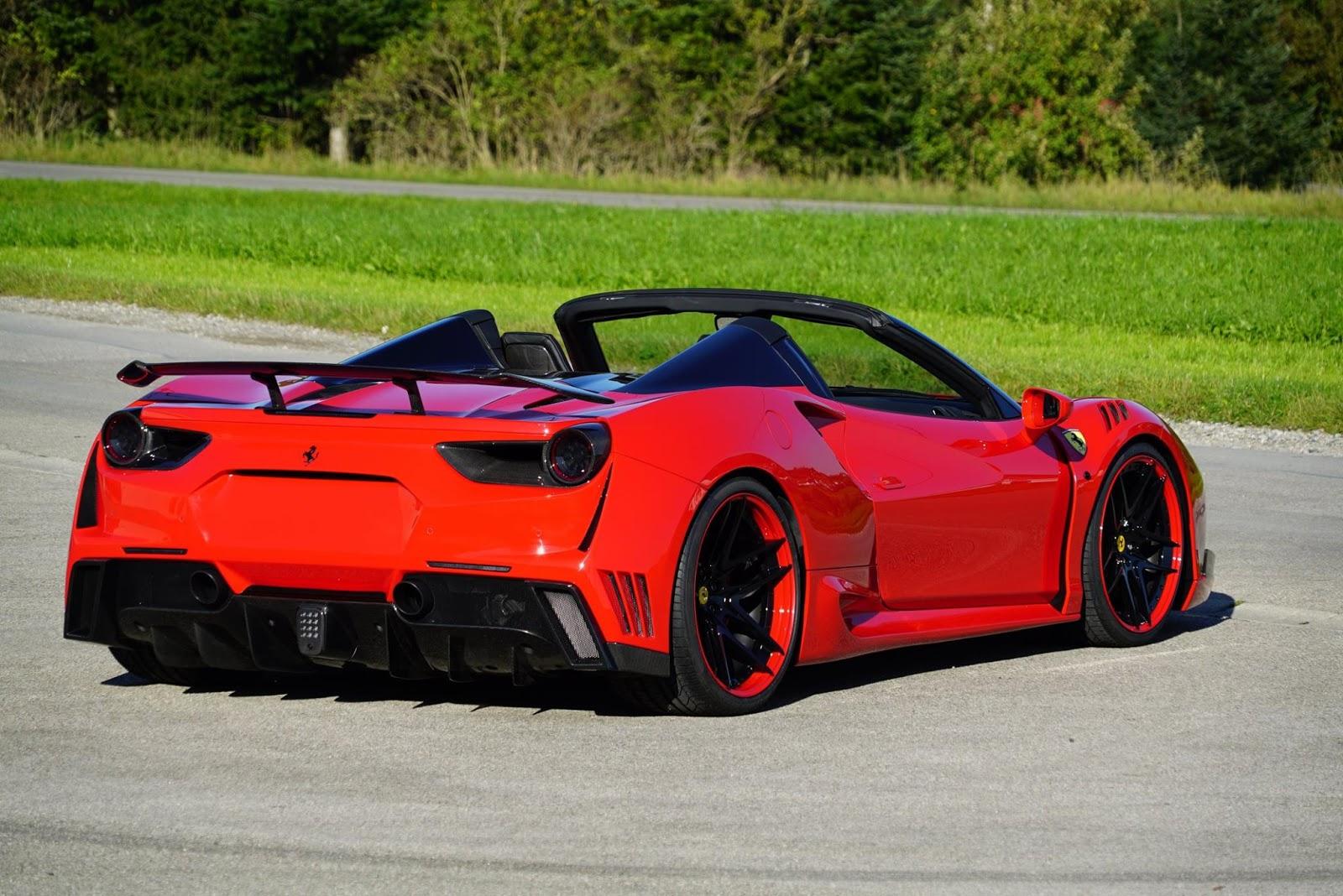 Ferrari 488 Spider Receives Novitec's N-Largo Upgrades