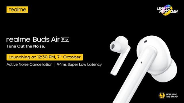Realme تُشوق لقدوم السماعتين Realme Buds Air Pro و Realme Buds Wireless Pro مع تقنية إلغاء الضوضاء