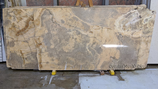 Antique yellow onyx marble slabs NYC