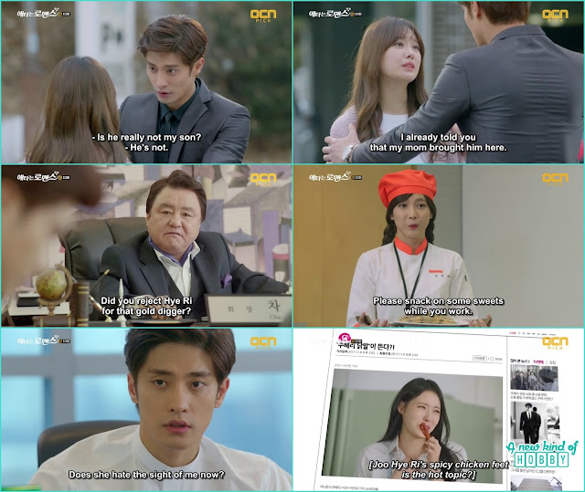 jin wook ask yoo mi if dong goo is their child or not but she refuse - My Secret Romance: Episode 10 korean drama