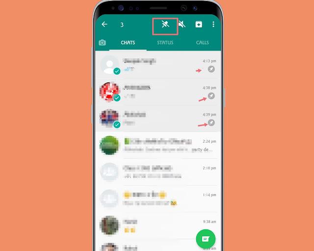 Pin Contact - WhatsApp tricks