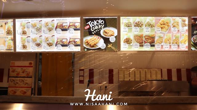 Menu Tokyo Curry Hokben