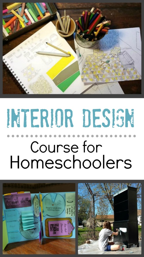 Interior Design Course for Homeschoolers #unitstudy #homeschool #curriculum