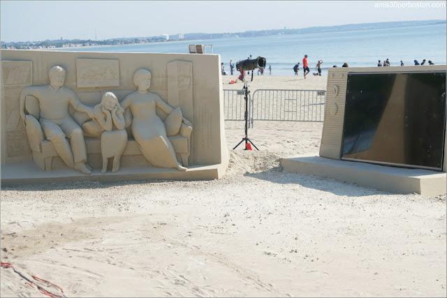 Escultura Principal del Festival Internacional de Esculturas de Arena de Revere Beach 2019