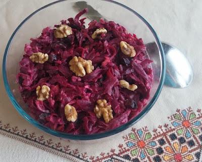 Beet, Prune, & Walnut Salad