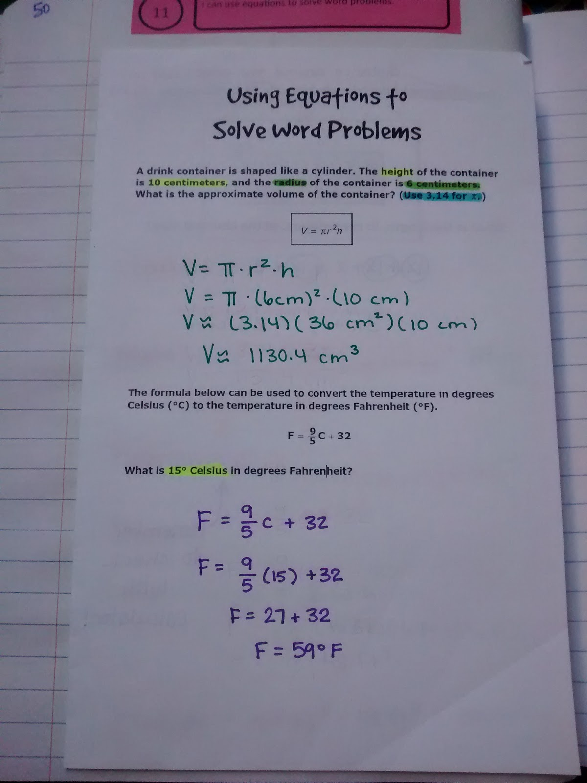 how to solve word problems using equations