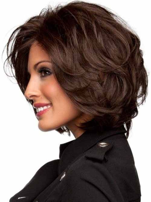 15 popular short hairstyles for round face shape thick hair