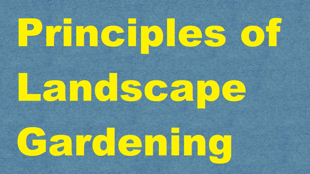 Principles of Landscape Gardening ICAR E course Free PDF Book Download e krishi shiksha