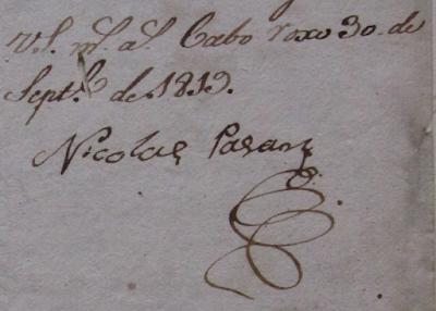 Firma de Nicolas Pagan Cabo Rojo
