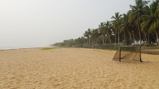 Grand Bassam is known for its busy, palm-backed beach