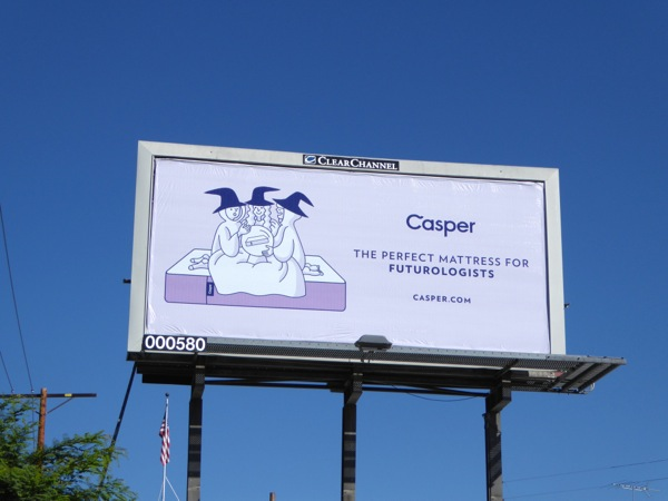 Casper perfect mattress futurologists billboard