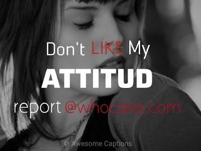 Instagram Attitude Caption For Girls