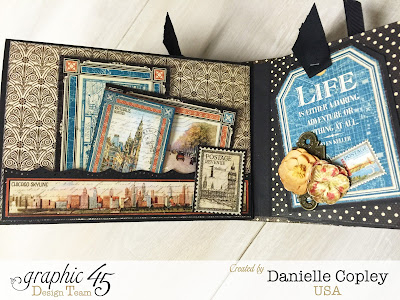 Cityscapes Mini Album, Graphic 45, Danielle Copley, Scrapbookmaven.com, photo 6