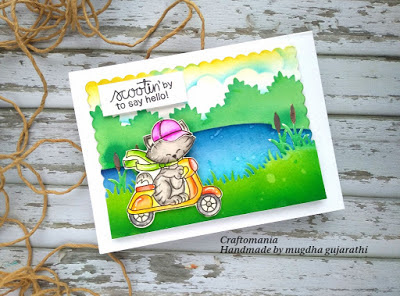 Scootin' by to say hello by Mugdha features Newton Scoots By by Newton's Nook Designs; #newtonsnook