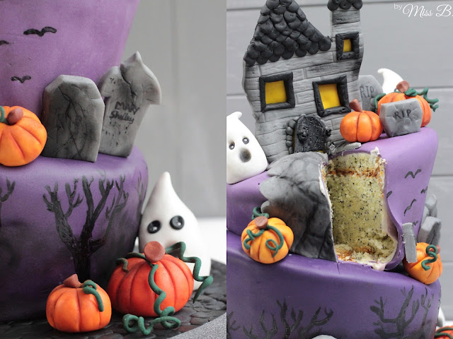miss blueberrymuffin 39 s kitchen halloween motivtorte teil. Black Bedroom Furniture Sets. Home Design Ideas