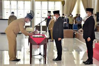 Tuahta Ramajaya Saragih Dilantik Jadi Kasatpol PP Sumut, Gubernur Edy Rahmayadi Minta Tidak Takut Pada Siapapun