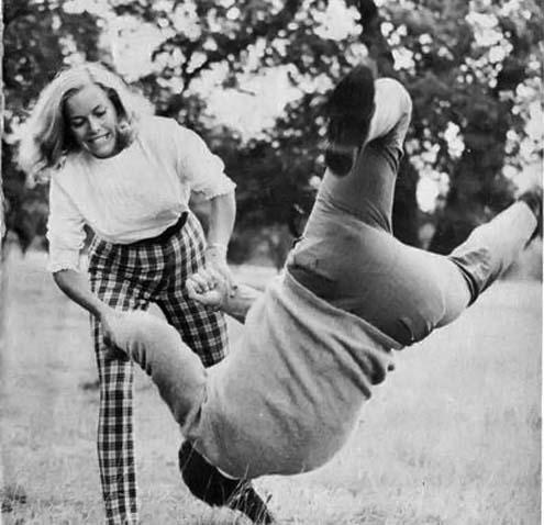 Honor Blackman does Karate  vintage everyday