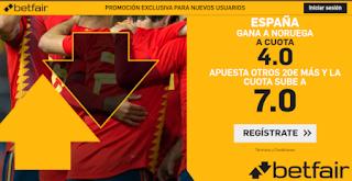 betfair supercuota Euro 2020 España gana Noruega 12-10-2019