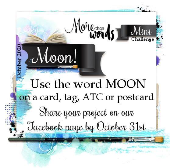 More Than Words Challenges October 2020 Mini Challenge Board Moon