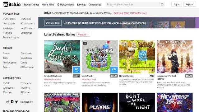 itch.io situs tempat download game pc gratis dan legal