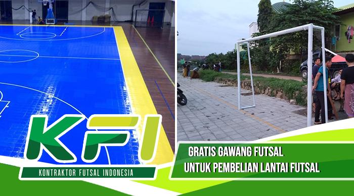 beli lantai futsal gratis gawang futsal