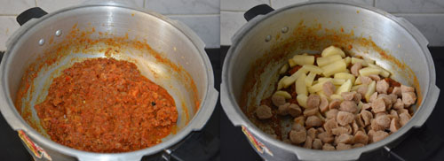 Soya Nuggets potato curry recipe