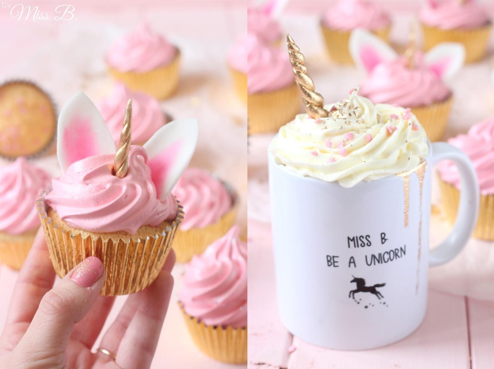 Miss Blueberrymuffin S Kitchen So Suss Einhorn Cupcakes Mit