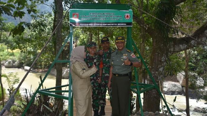 Tim Wasev Mabesad Kunjungi Lokasi Jembatan Gantung Tompobulu Sinjai- Bontocani Bone